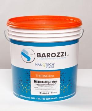 THERMO-PAINT idro pittura antimuffa termica isolante nanotecnologica traspirante colorata 15 l Barozzi