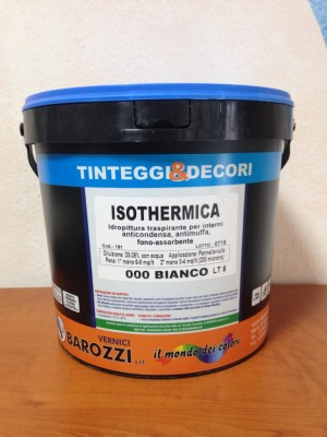 ISOTHERMICA idro pittura antimuffa traspirante 4 litri Barozzi