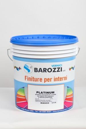 PLATINUM idropittura idrorepellente lavabile per interni con coperture opacità potenziate 14 litri Barozzi