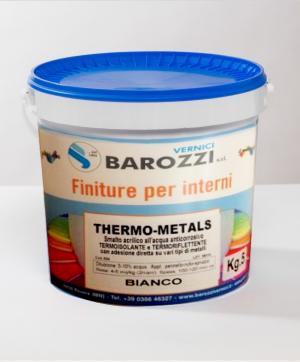 THERMO-METALS Smalto Acrilico all'acqua Termoriflettente Termoisolante nanotecnologico bianco 6 kg Barozzi