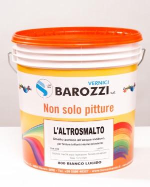 L'ALTROSMALTO smalto all'acqua Bianco Lucido 800 15 litri Barozzi