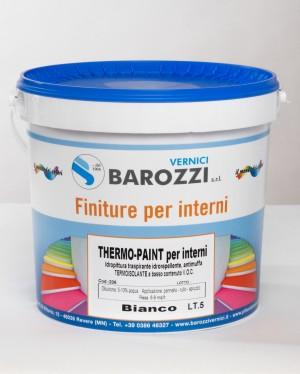 THERMO-PAINT idro pittura antimuffa termica isolante nanotecnologica traspirante colorata 5,0 l Barozzi
