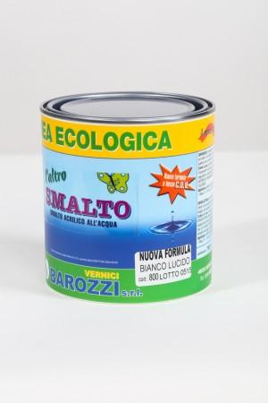 L'ALTROSMALTO smalto all'acqua Bianco Lucido 800 0,75 litri Barozzi